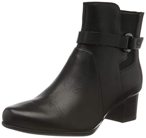 Clarks Damen Un Damson Mid Stiefeletten, Schwarz Black Leather, 39.5 EU
