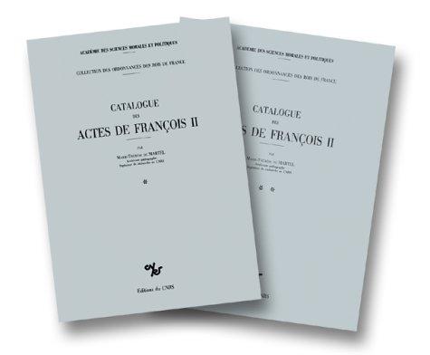 Catalogue des Actes de François II : 1559-1560
