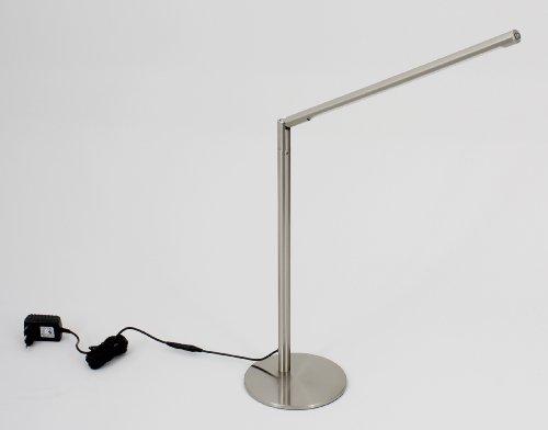 #Trango® Hochwertige Design LED Tischleuchte Schreibtischleuchte Lampe mit 3000K warm-weiß SMD LED (Edelstahl-Look)#