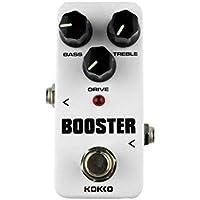 KOKKO FBS2 Booster Mini Pedal de Efectos de Guitarra Portátil 2 Band EQ True Bypass