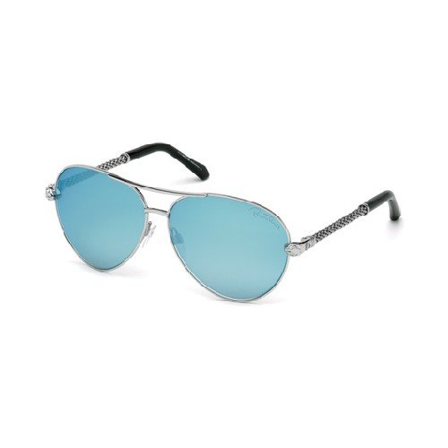 Roberto Cavalli Unisex-Erwachsene RC976S 16X 61 Brillengestelle, Silber (Palladio Luc\\Blu Specchiato), 61.0