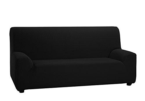 Martina home - copridivano elastico, 3 posti da 180 a 240 cm di larghezza, colore nero