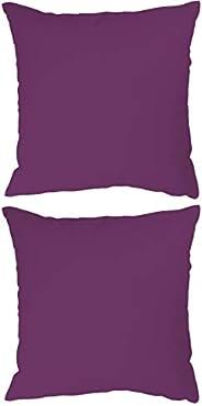 Stylie Soft Plain Colored Cushion, 45x45 cm, Purple, 2 Pcs