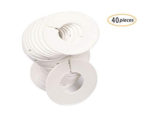 40 Pack Kleidung Rack Größe Teiler Runde Kleiderbügel Teiler Baby Kleiderschrank Größe Trenner Rund Kleidung Organisation mit 1 Stück Filzstift (40 Pack, Blank) (Kleidung Racks)