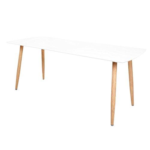 Zons Stockholm Tisch ausziehbar 140/180x 80x H75cm weiß