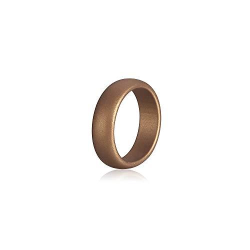 Tiamo Violet Umwelt Silikon-Ring für Frauen Rubber Wedding Bands für Sport-Trainings-Finger, 7, SR43 (Frauen Trauringe Camo)