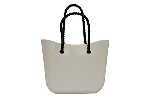 Borsa o bag grande - colore bianco manici corda neri
