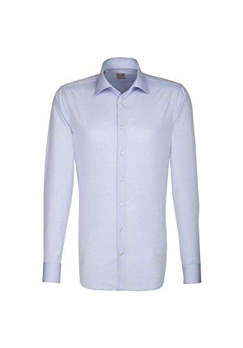 Seidensticker - Herren Hemd, Bügelfrei, Tailored, Schwarze Rose mit Kent Kragen in verschiedenen Farben (01.021005) Hellblau(15)