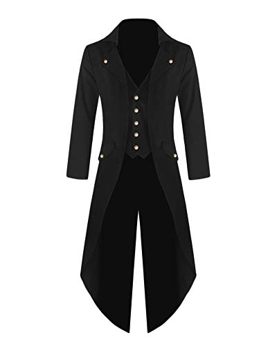ZhuiKunA Damen Plus Größe Steampunk Vintage Gothic Smoking,Uniform -