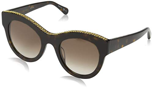 Stella mccartney sc0018s 004, occhiali da sole unisex - adulto, marrone (004-avana/brown), 50
