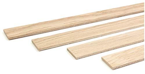 Eiche Natur Holz (wodewa Holzleiste Wandleiste Eiche Strukturiert Natur 1m Abschlussleiste Holz 30x4mm Zierleiste für Wandverkleidung Decke Boden Abdeckleiste DIY Basteln)