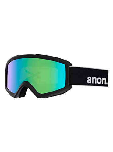 Anon Herren Helix 2 Sonar with Spare Snowboardbrille, Black Green