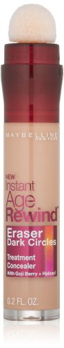 Maybelline New York Instant Age Rewind Dark Circle Concealer, Honey, 6g