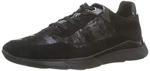 Geox Damen D Hiver A Sneaker, Schwarz (Black C9999), 38 EU