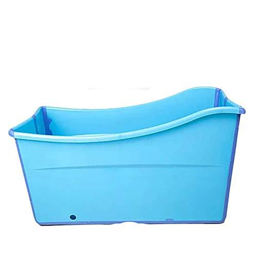 ZHYY Haustierbad Zusammenklappbar Tragbar Schwimmbecken Welpe Duschbad Groß Hund Katze Rund Wasserteich Zusammenklappbar Auslaufsicher Bällebad Garten Terrasse Hinterhof,Blue