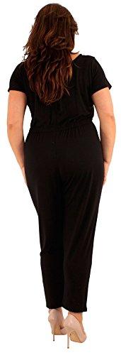 Chocolate Pickle ® Nouveaux Femmes Grande Taille Cap Sleeve robe noire Jumpsuit 46-52 Black