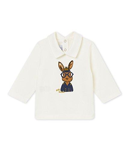 Petit Bateau Baby-Jungen Poloshirt Polo_4476901, Weiß (Marshmallow 01), 62 (Herstellergröße: 3M/60cm)