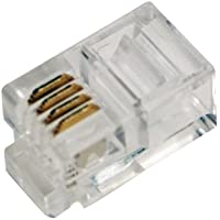 LogiLink RJ10 RJ10 Transparent wire connector - Wire Connectors (RJ10, Transparent, Gold, RoHS, 100 pc(s)) - Trova i prezzi più bassi su tvhomecinemaprezzi.eu