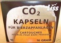 60 Stück Liss Bierkapseln 16g CO2 für Zapfanlagen wie BierMaxx Zapfprofi