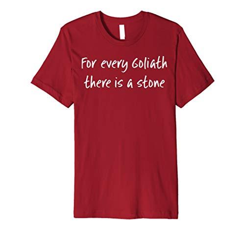 Christliches T-Shirt Für jeden Goliath gibt es einen Stein -