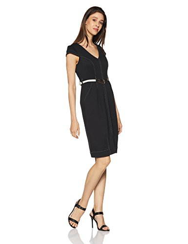 Avirate Women's Shift Dress (AVDR102083_Black_4)