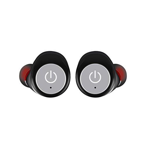 Wireless Bluetooth Kopfhörer Handfree Kopfhörer,federleicht für iPhone, iPad, Samsung, Nexus, HTC und mehr,Unterstützen Sie eine Übereinstimmung Zwei (Grau) ()