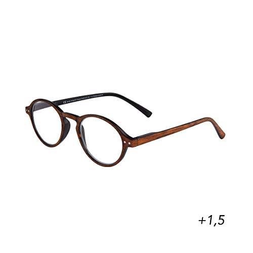 BUTLERS GOOD LOOKING Lesebrille + 1,5 Dioptrien - Stylische Lesehilfe in Schwarz - Unisex Brille zum Lesen aus Kunststoff