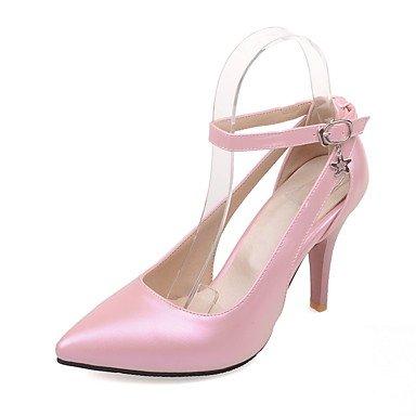 Moda Donna Sandali Sexy donna tacchi Primavera / Estate / Autunno cinturino alla caviglia PU Wedding / Party & sera abito / Stiletto Heel fibbia nero / rosa / rosso / bianco White