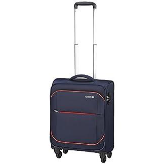 American Tourister – Sunbeam spinner 4 ruedas 55/20 equipaje de mano, azul (nordic blue), S (55cm-38L)