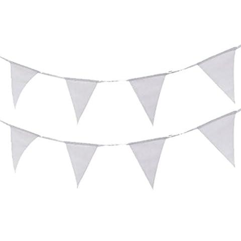 Whity Whiteman - Party Dekoration Girlande - 1 Stück, 5m, Weiß