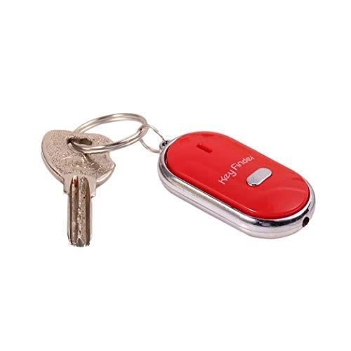 melysEU Whistle Anti-verlorene Schlüsselsucher Whistle Suche Locator Keychain Sound-Steuerung LED-Taschenlampe (Farbe:Zufällige Farbe)
