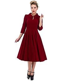3067 H&R Hearts and Roses London 50's Glamoroso Terciopelo Vestido De Tarde