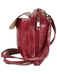 Tamirha Classic And Simple Maroon Sling Bag