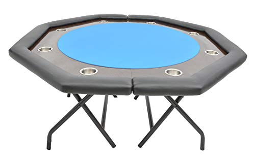 Addict Poker Tables The Octagon Ultimate Folding Poker Table (Blue)