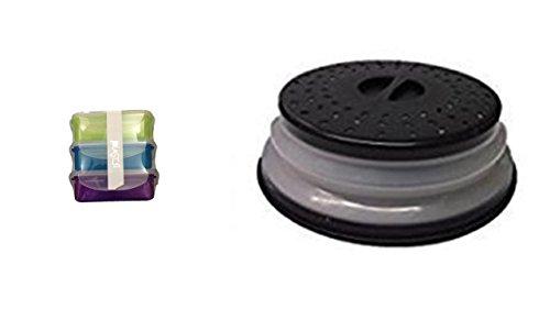 Mikrowellenhaube Farbe schwarz faltbar + Aktion Microwellenboxen
