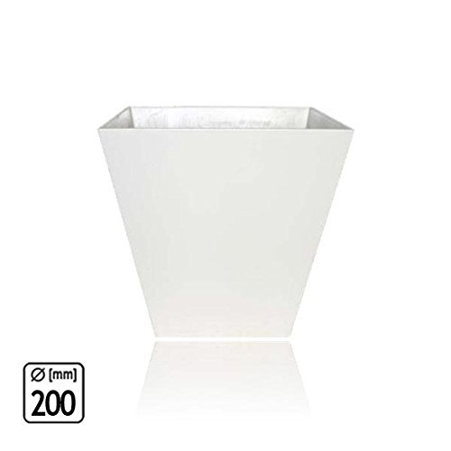 Artstone Pot – Ella, Blanc, 200 x 200 x 200 mm