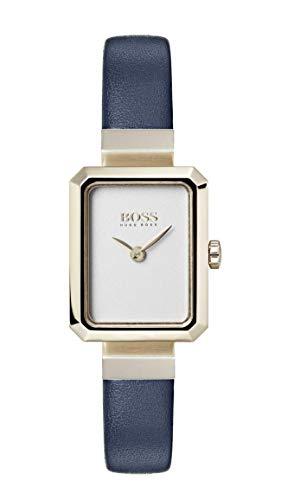 Hugo Boss Watch Reloj Analógico para Mujer de Cuarzo con Correa en Cuero 1502435