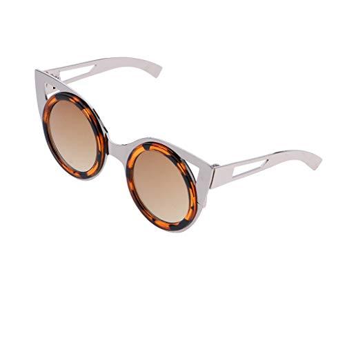 Baoblaze Puppenbrille Katzenaugen Sonnenbrille Eyewear Für 1/6 Blythe Puppe Kleidung Zubehör - C