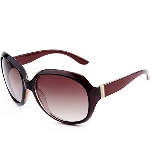 GQUEEN Klassische Oversized Polarisierte Sonnenbrille für Frauen UV400 Brille MOE7