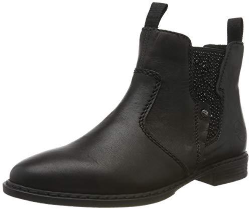 Rieker Damen 72460-00 Chelsea Boots, Schwarz (Schwarz/Schwarz/Schwarz 00), 39 EU
