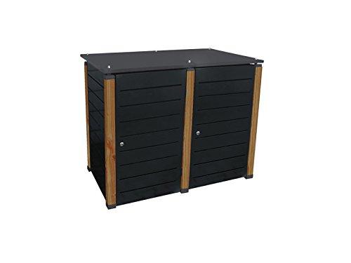 Mülltonnenbox Metall, Modell CaldoBox Line für zwei 240 ltr. Tonnen