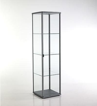 TOMASUCCI vetrina Wow Silver grigia scaffale alluminio anodizzato con vetro 2522