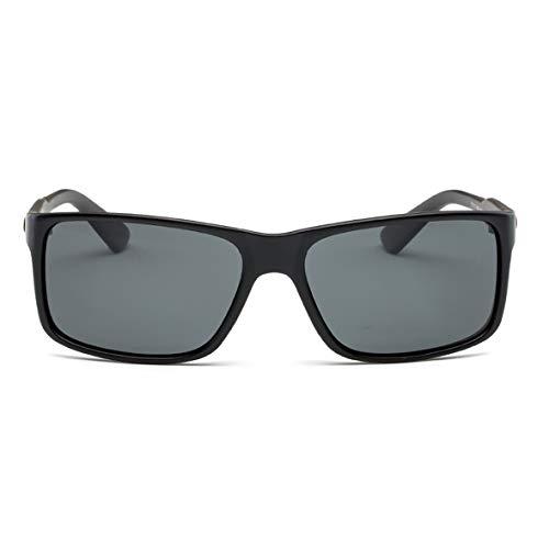 Monllack Die polarisierten Sonnenbrillen der Art- und Weisemänner PC quadratischer Rahmen-kühle Brillen-Strand-Glas-Zusätze Anti-UV400