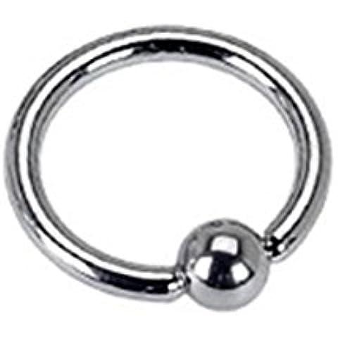 Paula & Fritz anello in acciaio chirurgico 316L argento forza personale: 16 mm sopracciglia labbra anello capezzolo penetrante di base tutte le taglie RSF_16