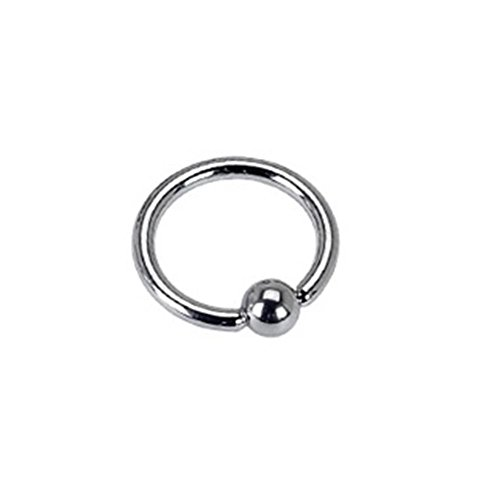 Paula & Fritz® Ring aus Edelstahl Chirurgenstahl 316L silber Stabstärke: 12mm Augenbrauen Lippen Brustpiercing Ring Basic alle Größen RSF_16124