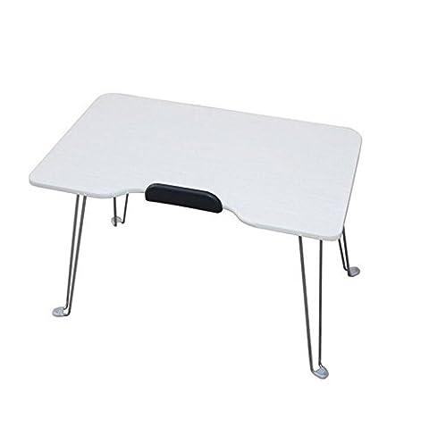 HJMTRY Computer Schreibtisch Faltbares Multifunktions-praktisches LAptop Schreibtisch Weiß 49 * 30 * 30cm