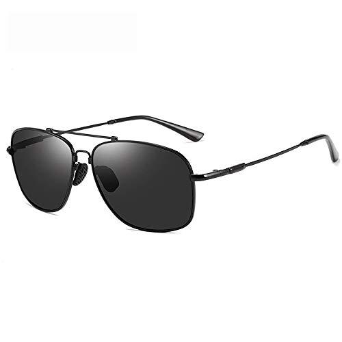 Runde Sonnenbrille Für Männer Frauen Aviator UV 400 Objektiv Mode Brille (Farbe : Schwarz, Größe : Casual Size)