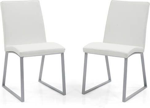 Urban Ladder Delphine Solid Wood Dining Chairs, Set of 2 (White)