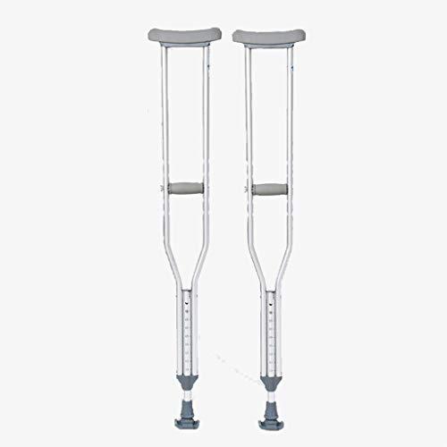 Krücken aus Aluminiumlegierung, verstellbar, verschleißfest und leicht, Krücken unter den Stoßdämpfern, Rehabilitation, für Bruchrehabilitation, Large