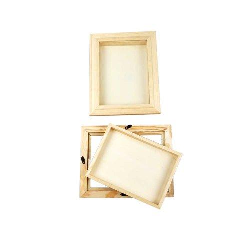 3D-Rahmen mit Glas, 18x24 cm, Kiefernholz, 1 Stck.